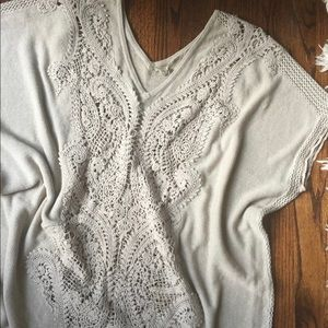Anthropologie summer sweater v neck tunic